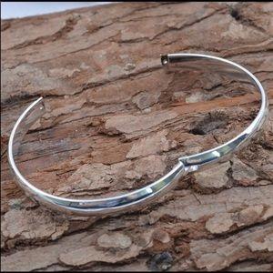 """Jewelry - 925 Stamped SS 7"""" Bangle Bracelet NWT"""